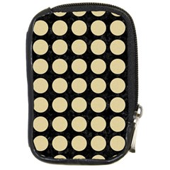 Circles1 Black Marble & Light Sand Compact Camera Cases by trendistuff