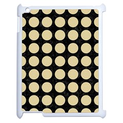 Circles1 Black Marble & Light Sand Apple Ipad 2 Case (white) by trendistuff