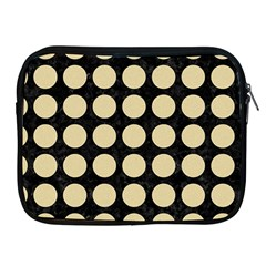 Circles1 Black Marble & Light Sand Apple Ipad 2/3/4 Zipper Cases by trendistuff