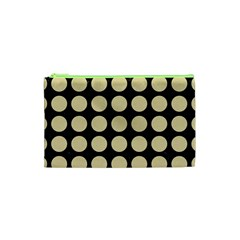Circles1 Black Marble & Light Sand Cosmetic Bag (xs) by trendistuff