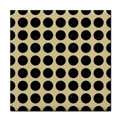 Circles1 Black Marble & Light Sand (r) Tile Coasters by trendistuff