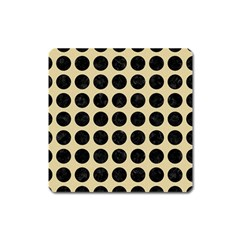 Circles1 Black Marble & Light Sand (r) Square Magnet by trendistuff