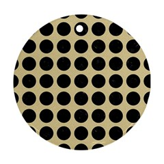 Circles1 Black Marble & Light Sand (r) Round Ornament (two Sides) by trendistuff