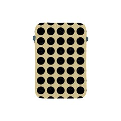 Circles1 Black Marble & Light Sand (r) Apple Ipad Mini Protective Soft Cases by trendistuff