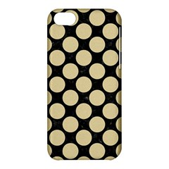 Circles2 Black Marble & Light Sand Apple Iphone 5c Hardshell Case by trendistuff