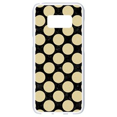 Circles2 Black Marble & Light Sand Samsung Galaxy S8 White Seamless Case by trendistuff