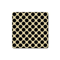 Circles2 Black Marble & Light Sand (r) Square Magnet by trendistuff