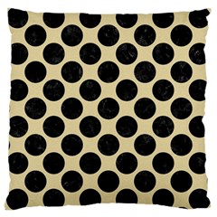 Circles2 Black Marble & Light Sand (r) Large Cushion Case (two Sides) by trendistuff