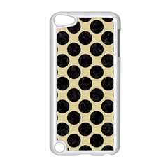 Circles2 Black Marble & Light Sand (r) Apple Ipod Touch 5 Case (white) by trendistuff