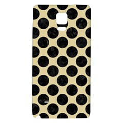 Circles2 Black Marble & Light Sand (r) Galaxy Note 4 Back Case by trendistuff
