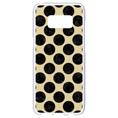 Circles2 Black Marble & Light Sand (r) Samsung Galaxy S8 White Seamless Case by trendistuff