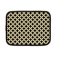 Circles3 Black Marble & Light Sand Netbook Case (small)  by trendistuff