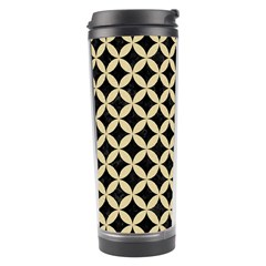 Circles3 Black Marble & Light Sand Travel Tumbler by trendistuff