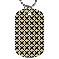 Circles3 Black Marble & Light Sand (r) Dog Tag (one Side) by trendistuff