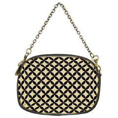 Circles3 Black Marble & Light Sand (r) Chain Purses (one Side)  by trendistuff