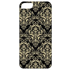 Damask1 Black Marble & Light Sand Apple Iphone 5 Classic Hardshell Case by trendistuff