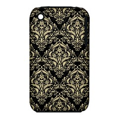 Damask1 Black Marble & Light Sand Iphone 3s/3gs by trendistuff