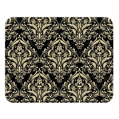 Damask1 Black Marble & Light Sand Double Sided Flano Blanket (large)  by trendistuff
