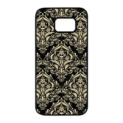 Damask1 Black Marble & Light Sand Samsung Galaxy S7 Edge Black Seamless Case