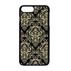 Damask1 Black Marble & Light Sand Apple Iphone 7 Plus Seamless Case (black) by trendistuff