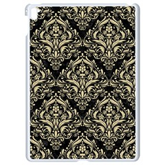 Damask1 Black Marble & Light Sand Apple Ipad Pro 9 7   White Seamless Case by trendistuff