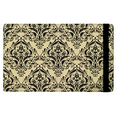 Damask1 Black Marble & Light Sand (r) Apple Ipad 2 Flip Case by trendistuff