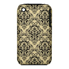 Damask1 Black Marble & Light Sand (r) Iphone 3s/3gs by trendistuff