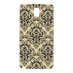 Damask1 Black Marble & Light Sand (r) Samsung Galaxy Note 3 N9005 Hardshell Back Case by trendistuff