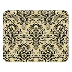 Damask1 Black Marble & Light Sand (r) Double Sided Flano Blanket (large)  by trendistuff