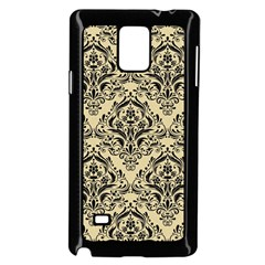 Damask1 Black Marble & Light Sand (r) Samsung Galaxy Note 4 Case (black) by trendistuff