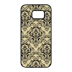 Damask1 Black Marble & Light Sand (r) Samsung Galaxy S7 Edge Black Seamless Case by trendistuff