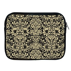 Damask2 Black Marble & Light Sand Apple Ipad 2/3/4 Zipper Cases by trendistuff