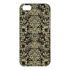 Damask2 Black Marble & Light Sand Apple Iphone 5c Hardshell Case by trendistuff