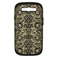 Damask2 Black Marble & Light Sand (r) Samsung Galaxy S Iii Hardshell Case (pc+silicone) by trendistuff