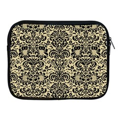 Damask2 Black Marble & Light Sand (r) Apple Ipad 2/3/4 Zipper Cases by trendistuff