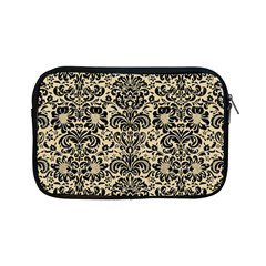 Damask2 Black Marble & Light Sand (r) Apple Ipad Mini Zipper Cases by trendistuff