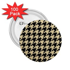 Houndstooth1 Black Marble & Light Sand 2 25  Buttons (100 Pack)  by trendistuff