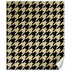 Houndstooth1 Black Marble & Light Sand Canvas 20  X 24   by trendistuff