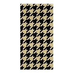 Houndstooth1 Black Marble & Light Sand Shower Curtain 36  X 72  (stall)  by trendistuff