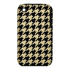 Houndstooth1 Black Marble & Light Sand Iphone 3s/3gs by trendistuff