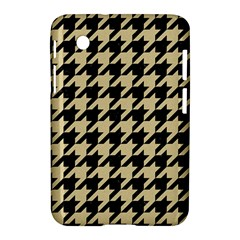 Houndstooth1 Black Marble & Light Sand Samsung Galaxy Tab 2 (7 ) P3100 Hardshell Case  by trendistuff