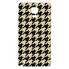 Houndstooth1 Black Marble & Light Sand Galaxy Note 4 Back Case by trendistuff