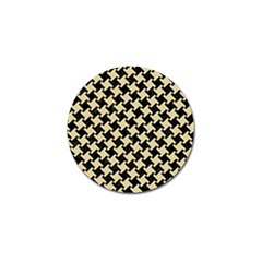 Houndstooth2 Black Marble & Light Sand Golf Ball Marker (10 Pack) by trendistuff