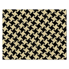 Houndstooth2 Black Marble & Light Sand Rectangular Jigsaw Puzzl by trendistuff