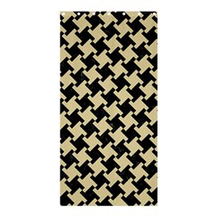 Houndstooth2 Black Marble & Light Sand Shower Curtain 36  X 72  (stall)  by trendistuff