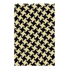 Houndstooth2 Black Marble & Light Sand Shower Curtain 48  X 72  (small)  by trendistuff