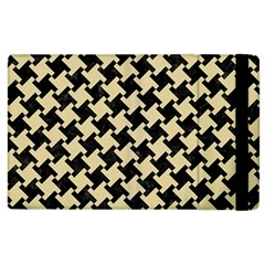 Houndstooth2 Black Marble & Light Sand Apple Ipad 3/4 Flip Case by trendistuff