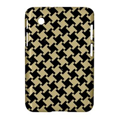 Houndstooth2 Black Marble & Light Sand Samsung Galaxy Tab 2 (7 ) P3100 Hardshell Case  by trendistuff