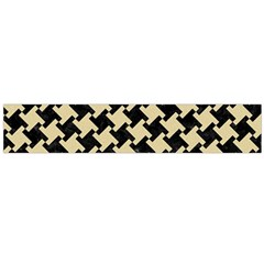 Houndstooth2 Black Marble & Light Sand Flano Scarf (large) by trendistuff