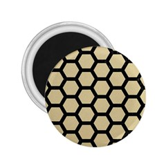 Hexagon2 Black Marble & Light Sand (r) 2 25  Magnets by trendistuff